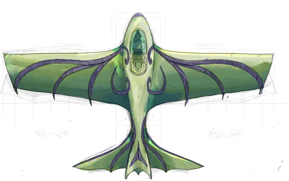 Fledge glider design test