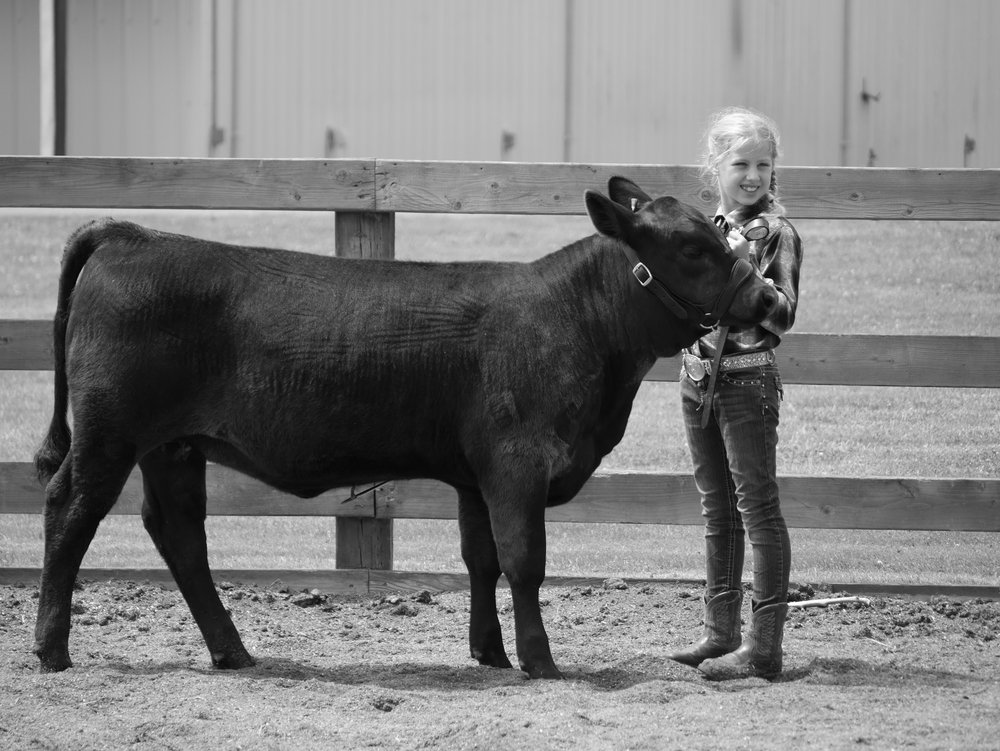 Libby and her heifer calf Aja.
