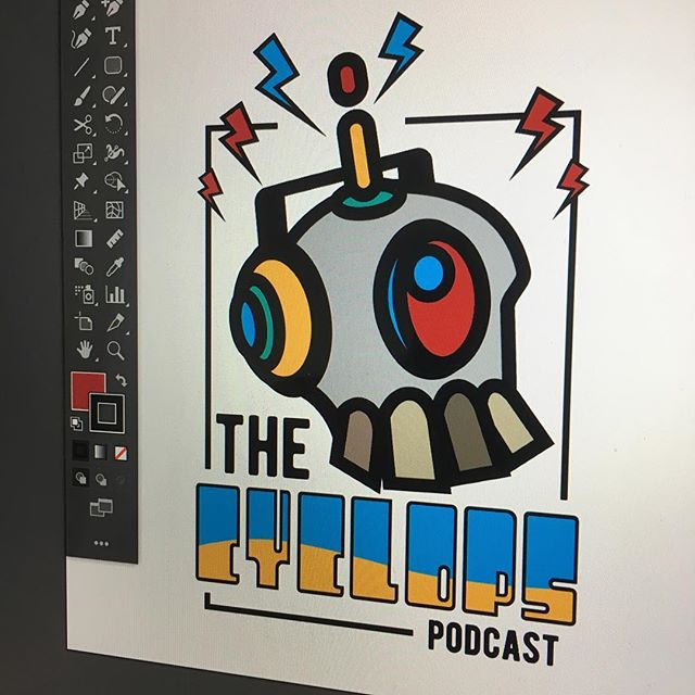 🎧Listen up... or don't cuz this is not a real podcast, not available on iTunes #justforfun #logodesign