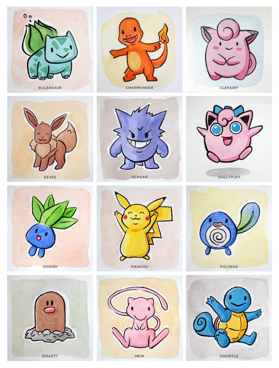pokemon-gouache
