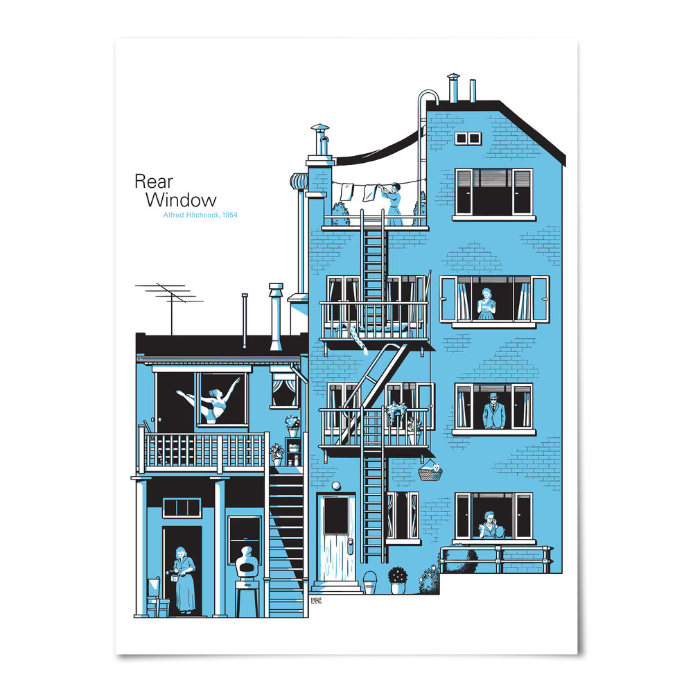 Rear Window Screenprint