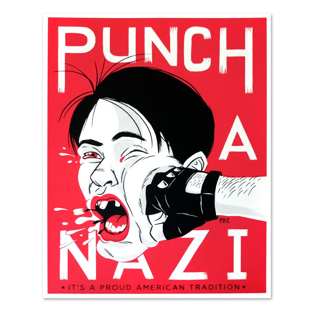 Punch A Nazi Screenprint
