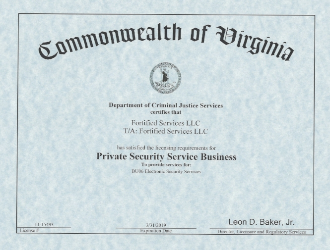 DCJS License - Fortified Services LLC.jpg