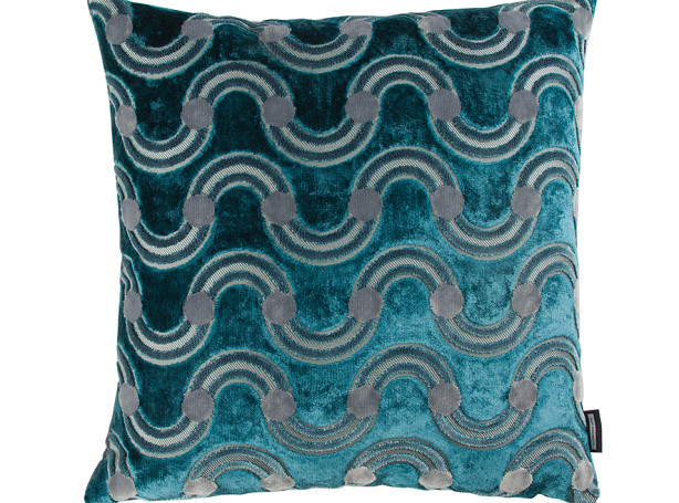 SPOT ON WAVE CUSHION | TEAL