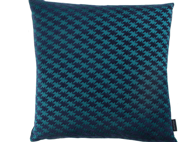 ZIG ZAG BIRD CUSHION | TEAL