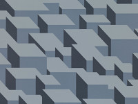 Cubic Bumps Wallpaper, Steel