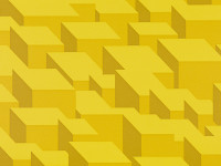 Cubic Bumps Wallpaper, Sunshine