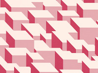 Cubic Bumps Wallpaper, Blush