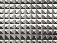 Domino Pyramid Wallpaper, Monochrome