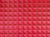 Domino Pyramid Walpaper, Crimson