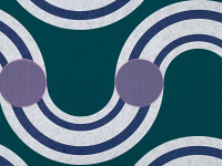 Spot On Waves Wallpaper, Teal