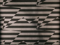 Stripey Zig Zag Wallpaper, Noir