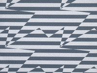 Stripey Zig Zag Wallpaper, Steel