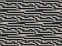 Stripey Zig Zag Birds, Monochrome