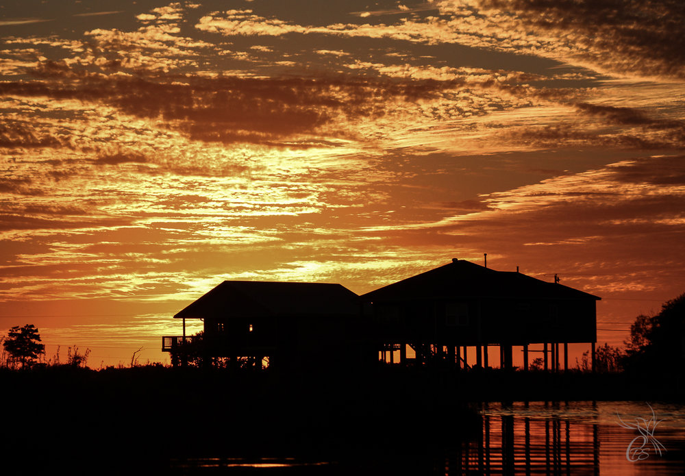 Bayou Homes in Sunset Glory