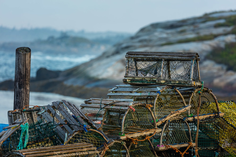 Nova Scotia: Lobster Traps at Rest