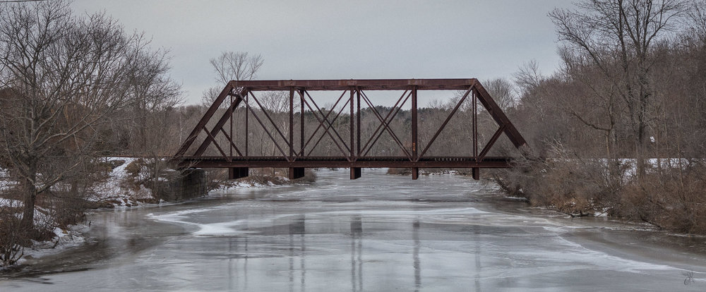 Railroad Trestle on Ice