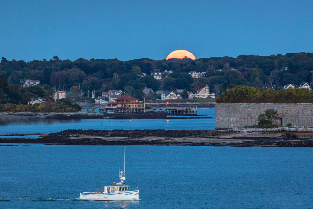 Full Moon Over Fort Gorges