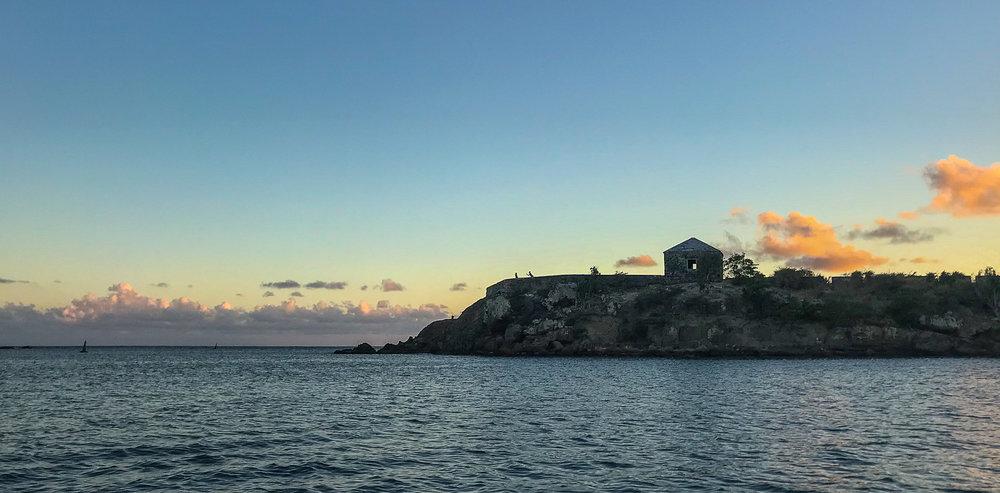 Antigua Fort Sunset