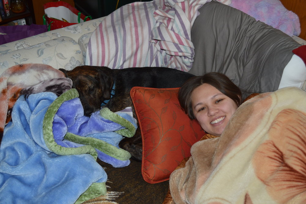 Sometimes pillow forts consist of your four legged love too.
