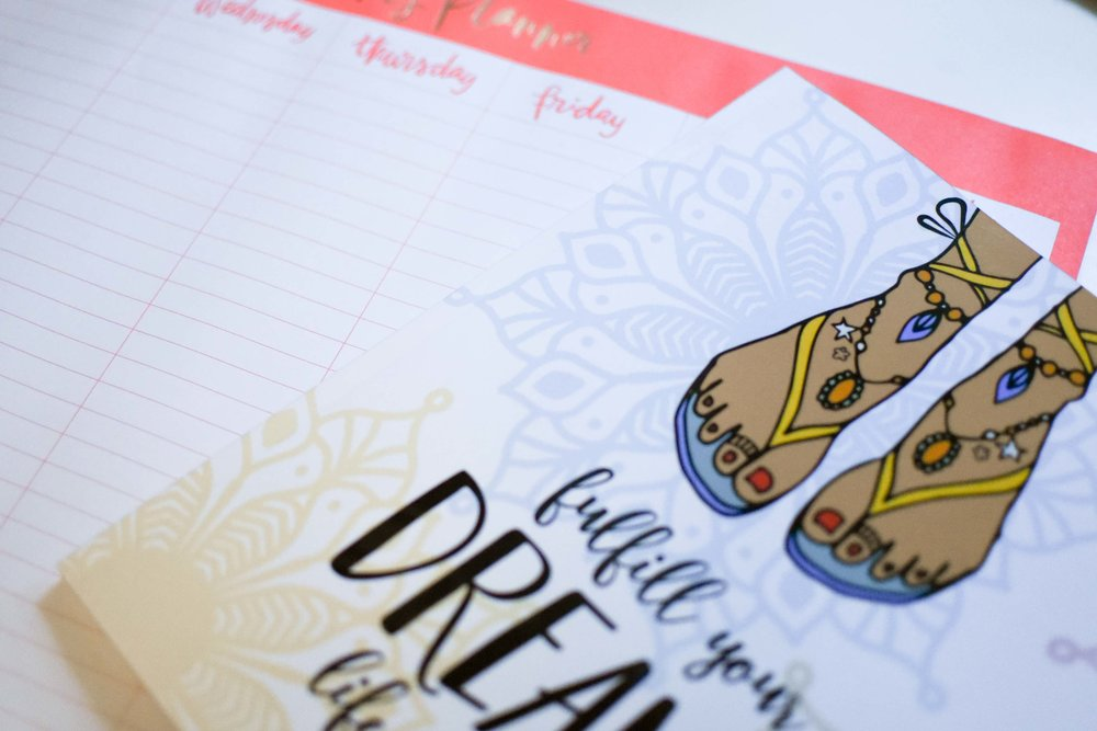My planner, which you can check out  here , and my weekly paper planner