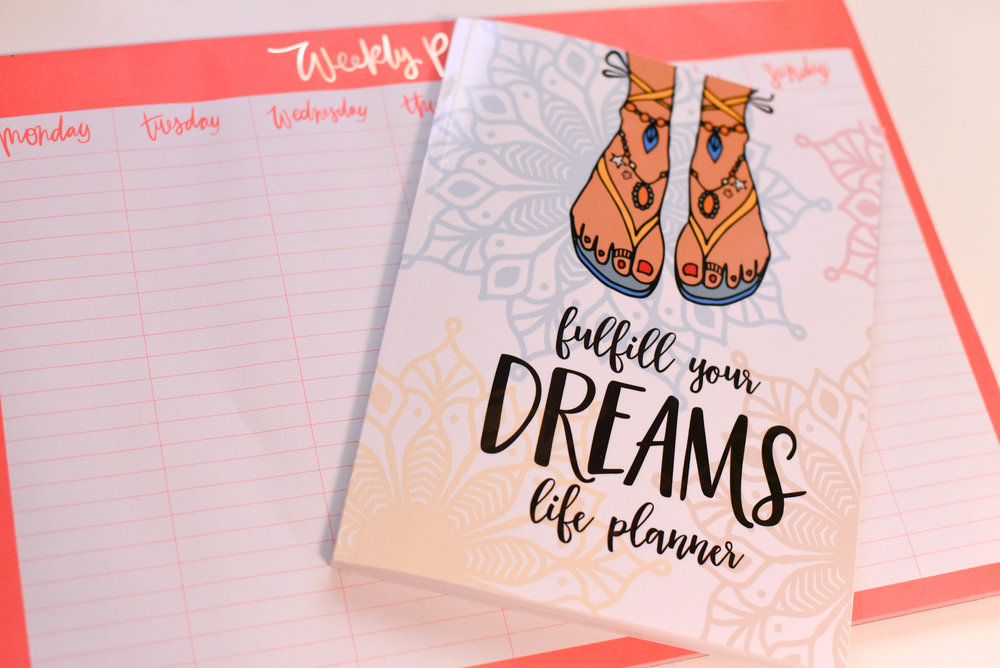ThE FULFILL YOUR DREAMS PLANNER will help you plan - and - prioritize your dreams. -