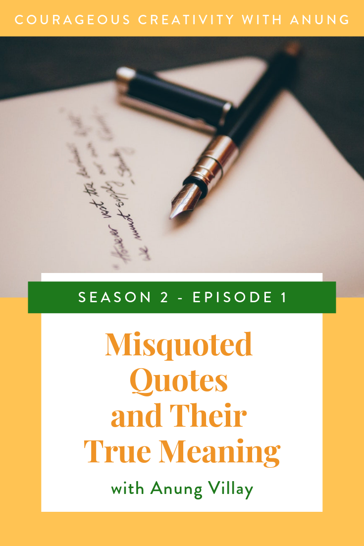 Misquoted quotes