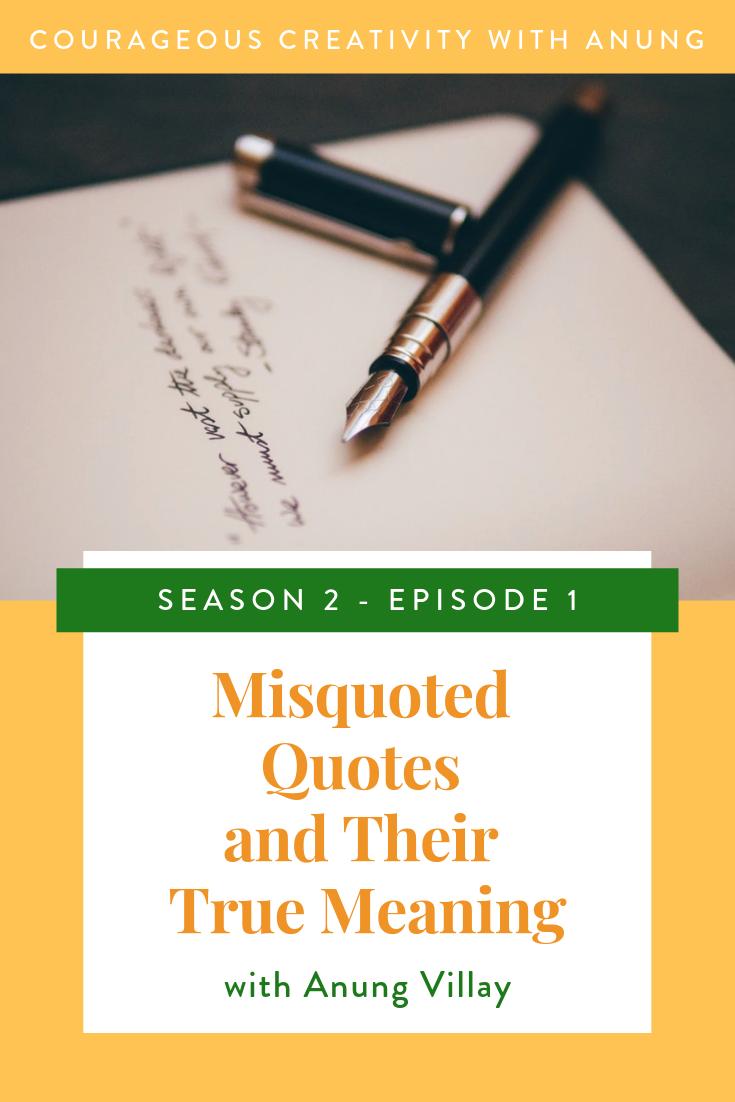 Misquoted quotes