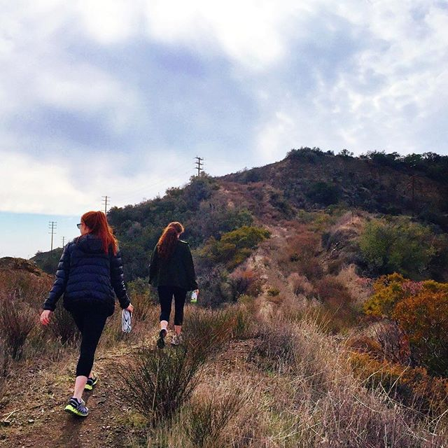 We found the stairway to heaven!!!!!! .... Or just the steep trail to our next possible shooting location.... ☀️😎👣🏋📷🚸 #thestjohnsisters #twinning #twinstagram #twinsta #filmmakers #locationscouting #hiking #adventures #nature #makingmovies #film #scouting #workout #gingers #twins #sisterlove #twinsofinstagram #outside #weouthere #weloveourjob #onlocation #werk