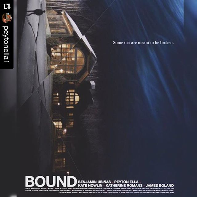 #Repost @peytonella1 #BOUNDfilm is so proud of you and everyone who was a part of this project. Go team! 💕🎬🎥 ・・・ First movie poster! So excited! Late nights in the snow..the BEST times. #indieshort #boundfilm