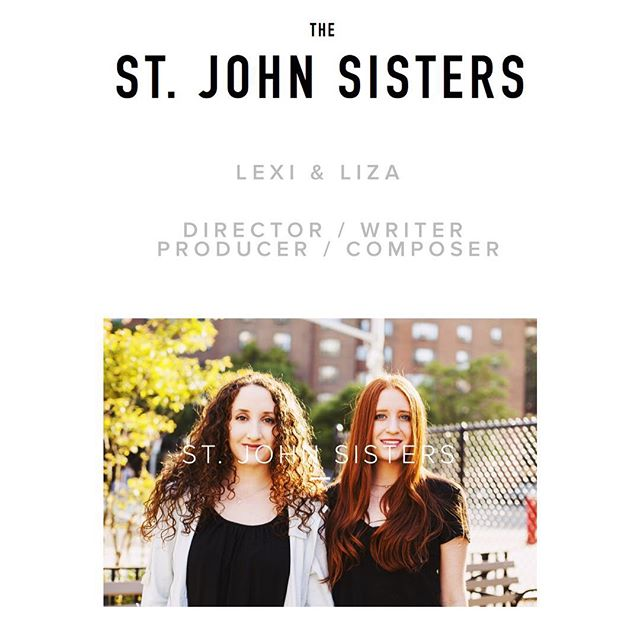 Introducing...The St. John Sisters! Our very own writer/director producer/composer duo has a new website. Be sure to check out the BOUND page! #BOUNDfilm #thestjohnsisters  http://www.thestjohnsisters.com