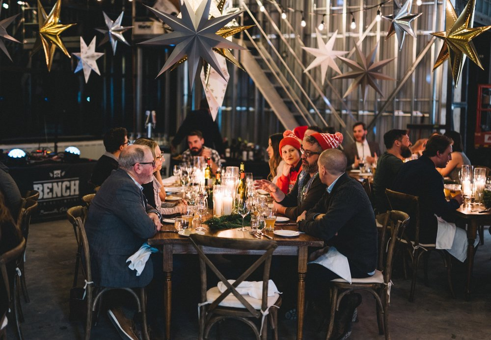 Corporate Dinner Event Bench Brewing Holiday Party