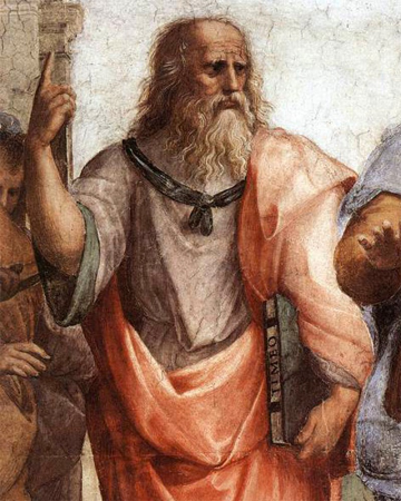 Plato (detail from Raphael's 'School Of Athens' 1509-1511)