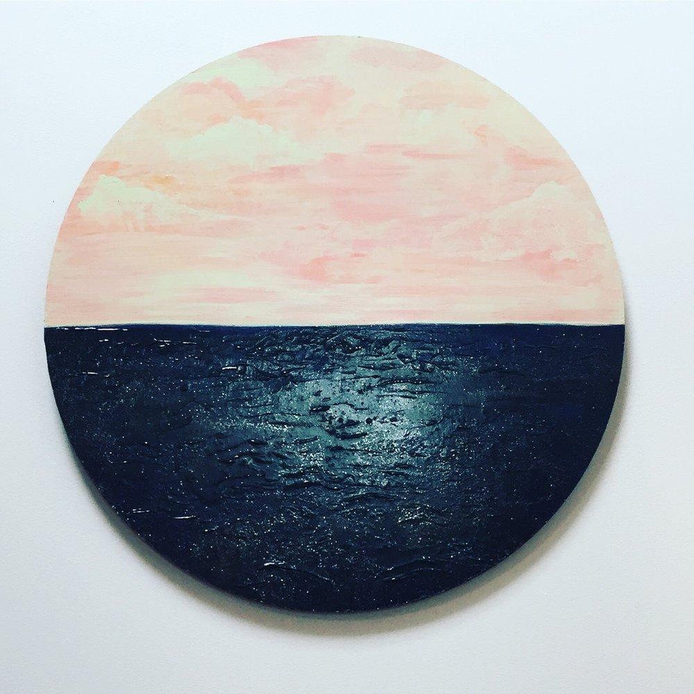 Sea I. Acrylic on Board. 2017.
