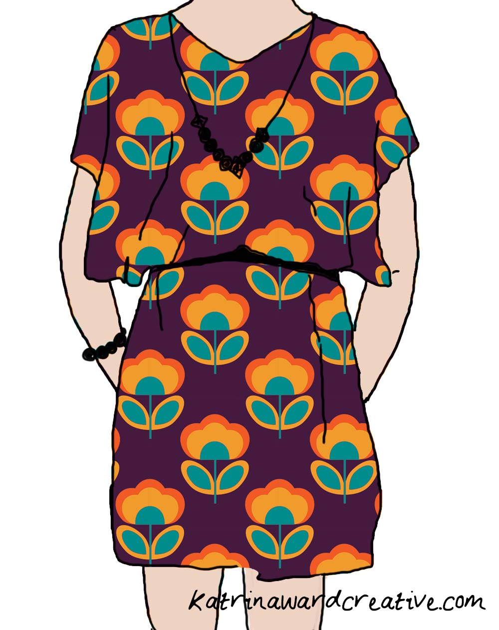 retro flowers knocker frock.jpg