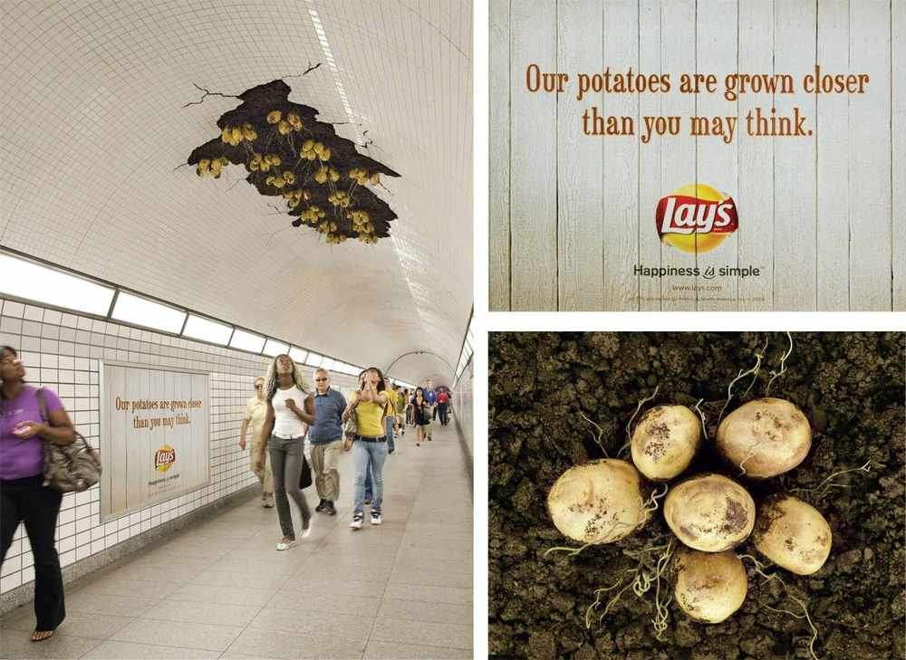 Custom stickers used by Lays to grab crowd's attention