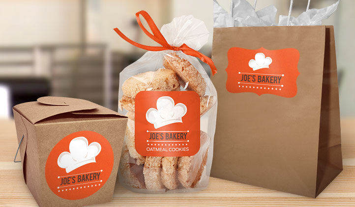 Stickers Seals On Bakery Package - Image Source: https://www.stickeryou.com/products/shape-labels/242/