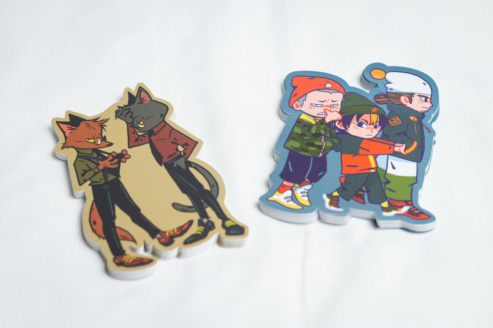 Die cut stickers. Designed by Teressa Ong