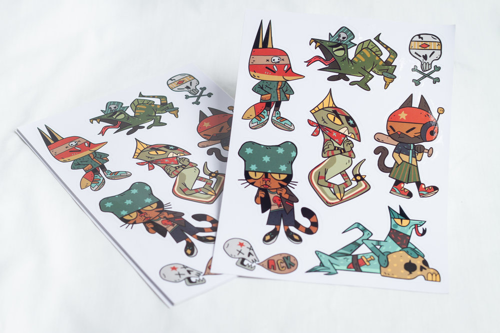 Kiss cut sticker sheet. Designed by Teressa Ong