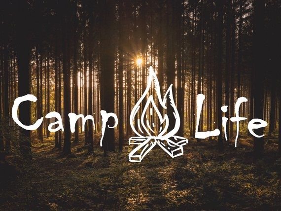 Image Credits:  https://www.etsy.com/in-en/listing/524616608/camp-life-decal-with-campfire-hiking-and