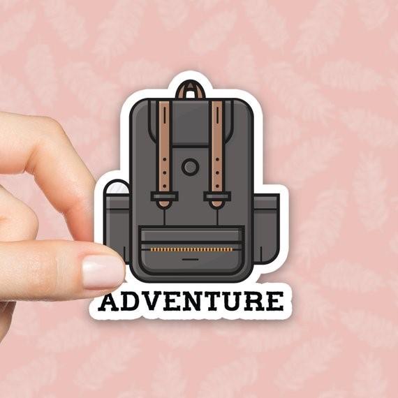 Image Credits:  https://www.etsy.com/in-en/listing/590396989/adventure-sticker-backpack-sticker