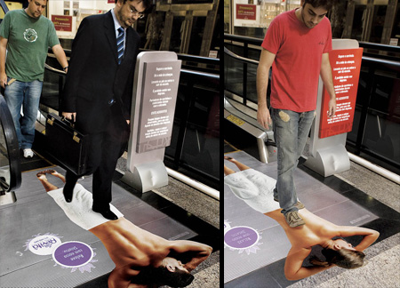 Wanna be fit? This Escalator Sticker gives you fitness goals  Image Credits:  https://www.crookedbrains.net/2011/07/creative-elevator-ads.html