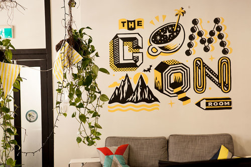 4. Creative Wall Sticker Art at the Common Room, a coworking space in Sydney, Australia