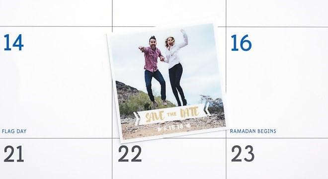 WEDDING ANNOUNCEMENT SAVE-THE-DATE STICKER  Image via  Sticker Mule
