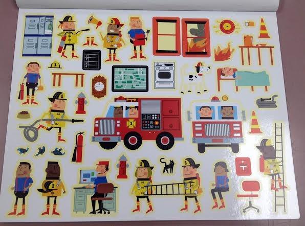 Firemen: Community Helpers Sticker Worksheet  Image via  Re Neat ABC Toyzone