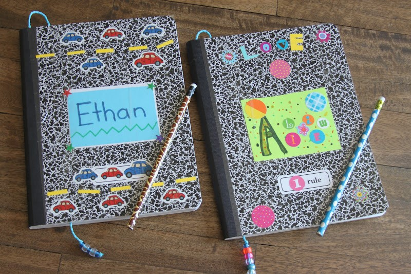 Decorate Notebooks with Stickers  Image via  Kara's Creative Space
