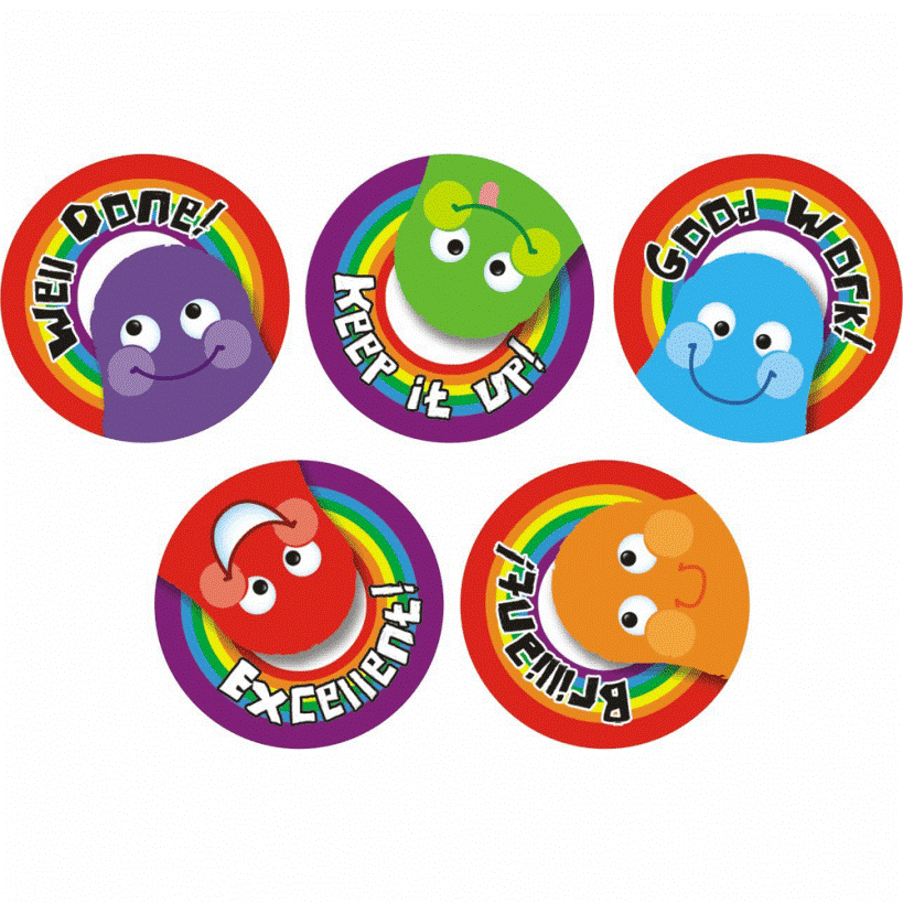 Example 2: Classroom Appraisal and Grading Stickers  Image via  School Stickers
