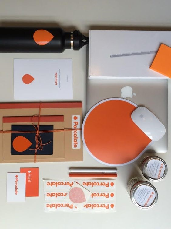 Percolate's New Hire Onboarding Kit with Stickers  Image via  Pinterest