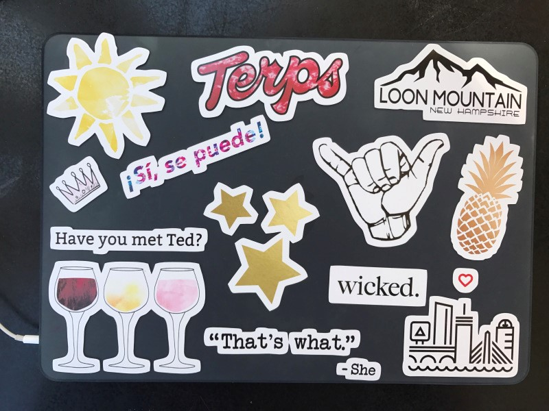 Laptop Stickers for Self-expression  Image via  UMDWritersBloc