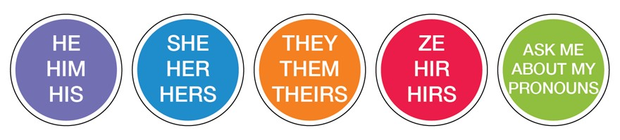 Pronoun Stickers available at UCSF  Image via  UCSF Website